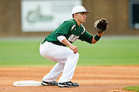 Brad Elwood #2 of the Charlotte 49ers waits for a throw at second base during the game against the Saint Peter's Peacocks at Robert and Mariam Hayes Stadium on February 18, 2012 in Charlotte, North Carolina.  Brian Westerholt / Four Seam Images