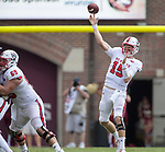 North Carolina State quarterback Ryan Finley passes against Florida State in the second half of an NCAA college football game in Tallahassee, Fla., Saturday, Sept. 23, 2017.  NC State defeated Florida State 27-21. (AP Photo/Mark Wallheiser)