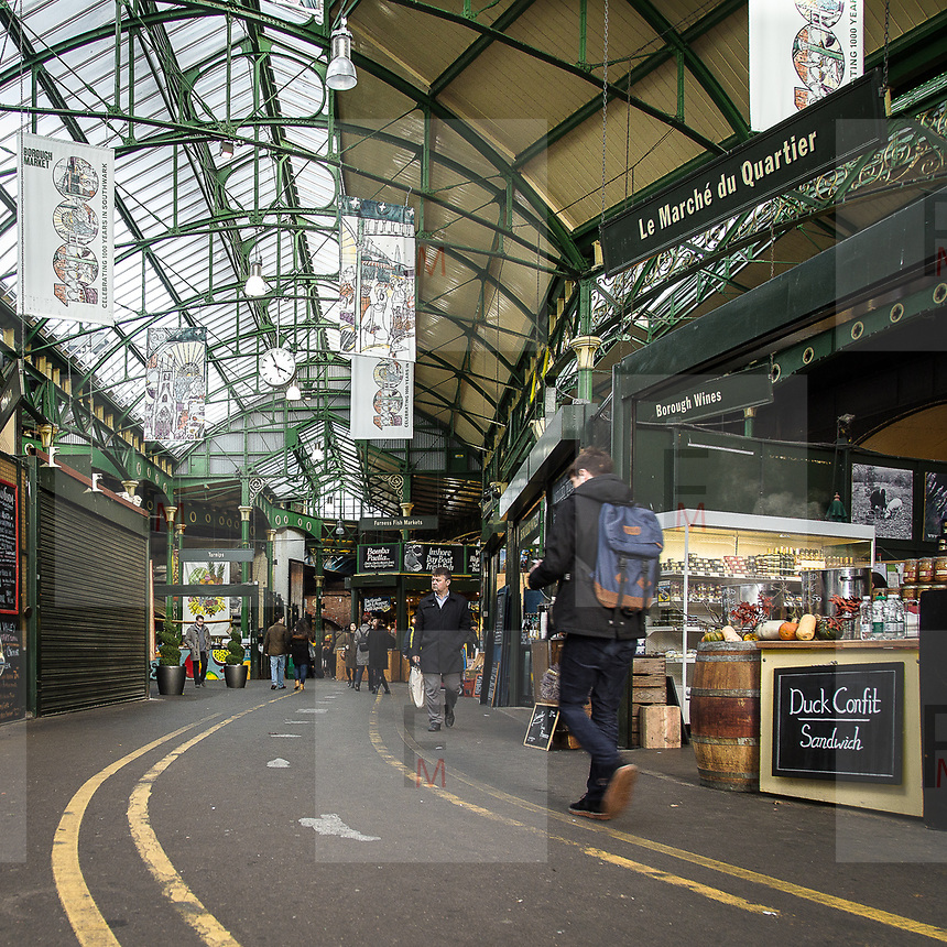 Interno di Borough Market balzato alle cronache internazionali per l'attacco di sabato 3 giugno.<br /> <br /> Interior of Borough Market, one of the sites of the attack of 3 June in London.