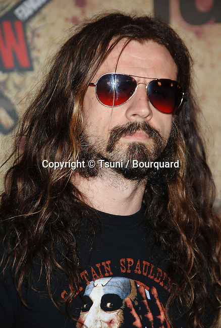Rob Zombie at the CHAINSAW AWARDS at the Orpheum Theatre in Los Angeles. October 15, 2006.<br /> <br /> headshot<br /> sun glass<br /> music