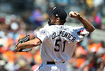 Reno Aces&rsquo; Josh Collmenter pitches against the Iowa Cubs at Greater Nevada Field in Reno, Nev., on Tuesday, May 17, 2016. <br />Photo by Cathleen Allison