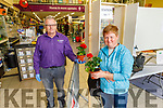 Tom Scanlon serving Catherine Murphy in Brownes Hardware Store Castleisland on Monday morning.