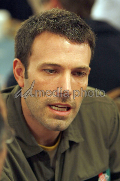 "2 July 2008 - Las Vegas, Nevada - Ben Affleck. Annie Duke and Don Cheadle host the 2nd Annual ""Ante Up For Africa"" Celebrity Poker Tournament during the 2008 World Series of Poker held at the Rio All-Suite Hotel and Casino. Photo Credit: MJT/AdMedia"