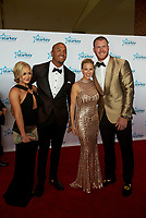 "ST. PAUL, MN JULY 16: Minnesota Vikings Michael Floyd and Kyle Rudolph pose on the red carpet at the Starkey Hearing Foundation ""So The World May Hear Awards Gala"" on July 16, 2017 in St. Paul, Minnesota. Credit: Tony Nelson/Mediapunch"