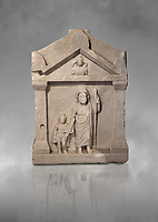 Roman relief funereal stele from Hierapolis Northern Necropolis. Hierapolis Archaeology Museum, Turkey