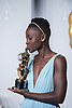 Lupita Nyong&rsquo;o kisses her Oscar<br /> 86TH OSCARS<br /> The Annual Academy Awards at the Dolby Theatre, Hollywood, Los Angeles<br /> Mandatory Photo Credit: &copy;Dias/Newspix International<br /> <br /> **ALL FEES PAYABLE TO: &quot;NEWSPIX INTERNATIONAL&quot;**<br /> <br /> PHOTO CREDIT MANDATORY!!: NEWSPIX INTERNATIONAL(Failure to credit will incur a surcharge of 100% of reproduction fees)<br /> <br /> IMMEDIATE CONFIRMATION OF USAGE REQUIRED:<br /> Newspix International, 31 Chinnery Hill, Bishop's Stortford, ENGLAND CM23 3PS<br /> Tel:+441279 324672  ; Fax: +441279656877<br /> Mobile:  0777568 1153<br /> e-mail: info@newspixinternational.co.uk