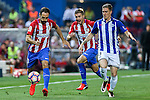 Atletico de Madrid's Juanfran Torres and Deportivo Alaves's Raul Garcia  during the match of La Liga Santander between Atletico de Madrid and Deportivo Alaves at Vicente Calderon Stadium. August 21, 2016. (ALTERPHOTOS/Rodrigo Jimenez)