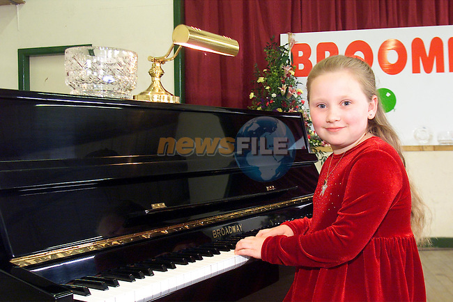 Erin Matthews, Collon winner of the Primary section of the Irish Cut Flower Company sponsored Piano competition in the Broomfield Festival in Collon..Picture: Arthur Carron/Newsfile