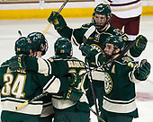 Jake Massie (UVM - 34), ?, Brendan Bradley (UVM - 20), Liam Coughlin (UVM - 13), Anthony Petruzzelli (UVM - 28) - The Boston College Eagles defeated the University of Vermont Catamounts 7-4 on Saturday, March 11, 2017, at Kelley Rink to sweep their Hockey East quarterfinal series.The Boston College Eagles defeated the University of Vermont Catamounts 7-4 on Saturday, March 11, 2017, at Kelley Rink to sweep their Hockey East quarterfinal series.