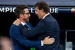 Real Madrid coach Julen Lopetegui and A.S. Roma coach Eusebio Di Francesco during UEFA Champions League match between Real Madrid and A.S.Roma at Santiago Bernabeu Stadium in Madrid, Spain. September 19, 2018. (ALTERPHOTOS/Borja B.Hojas)