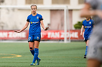 Seattle, WA - Sunday, August 13, 2017: Beverly Yanez during a regular season National Women's Soccer League (NWSL) match between the Seattle Reign FC and the North Carolina Courage at Memorial Stadium.