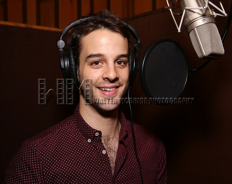 Ryan Viona during the making of the Broadway cast recording of 'Paramour' at Avatar Studios on June 29, 2016 in New York City.
