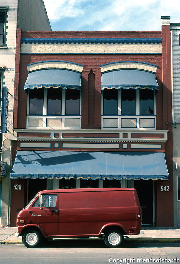 San Diego: 500 block of 5th Avenue, Gaslamp District.  Photo  '81.