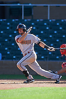 Salt River Rafters shortstop Jack Reinheimer (7) at bat during an Arizona Fall League game against the Surprise Saguaros on October 20, 2015 at Salt River Fields at Talking Stick in Scottsdale, Arizona.  Surprise defeated Salt River 3-1.  (Mike Janes/Four Seam Images)
