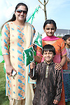 Shayan, Zoha and Sofia celebrating Pakistani Independence Day in Rose Hall...Picture Jenny Matthews/Newsfile.ie