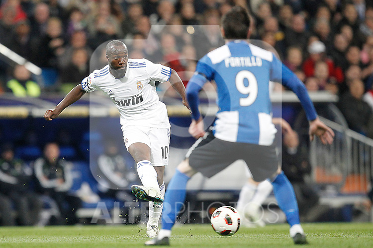 Real Madrid's Lass Diarra during la liga match on March 12, 2011...Photo: Cesar Cebolla / ALFAQUI