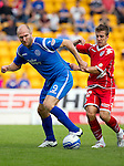 St Johnstone v Real Valladolid....07.08.10  Pre-Season Friendly.Sam Parkin and Alvaro Anton.Picture by Graeme Hart..Copyright Perthshire Picture Agency.Tel: 01738 623350  Mobile: 07990 594431
