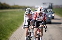 Brian Van Goethem (NED/Lotto Soudal) & Dries De Bondt (BEL/Corendon-Circus) up front<br /> <br /> 107th Scheldeprijs (1.HC)<br /> One day race from Terneuzen (NED) to Schoten (BEL): 202km<br /> <br /> ©kramon
