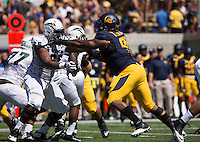 Saturday, September 7, 2013: CAL Deandre Coleman tries to break through Portland State Offense during a game at Memorial Stadium, Berkeley, California - California defeated Portland State 37 - 30
