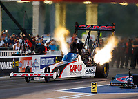 Jun 16, 2017; Bristol, TN, USA; NHRA top fuel driver Steve Torrence during qualifying for the Thunder Valley Nationals at Bristol Dragway. Mandatory Credit: Mark J. Rebilas-USA TODAY Sports