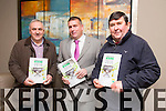 AGM: Attending the Kerry County Board AGM at the Ballyroe Heights hotel on Monday l-r John Joe O'Carroll,  Asdee, Patrick O'Sullivan, County Board chairman, Oliver Carney Asdee