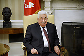 President Mahmoud Abbas of the Palestinian Authority looks on in the Oval Office of the White House in Washington, DC, on May 3, 2017. <br /> Credit: Olivier Douliery / Pool via CNP