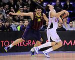 BARCELONA, SPAIN, BALONCESTO   29/11/2013<br /> Partido de Euroleague entre el Barcelona y el Fenerbahce  <br /> <br /> En imagen Kostas Papanikolaou<br /> y Bojan Bogdanovic . FOTOS PEP DALMAU