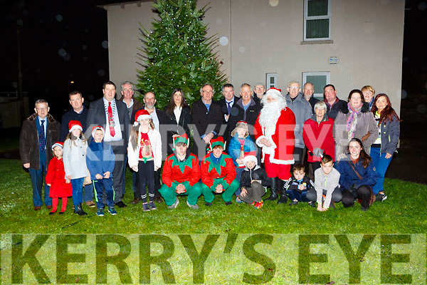 Killlarney Mayor Niall Kelleher turned on the lights at Farranfore Garda station on Saturday evening