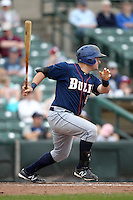 Durham Bulls designated hitter Stephen Vogt #30 during a game against the Empire State Yankees at Frontier Field on May 13, 2012 in Rochester, New York.  Durham defeated Empire State 3-1.  (Mike Janes/Four Seam Images)
