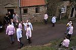 Goathland Plough Stots Goathland North Yorkshire England Sword dance performance.