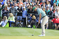 Trey Mullinax (USA) on the 2nd green during the 3rd round of the Waste Management Phoenix Open, TPC Scottsdale, Scottsdale, Arisona, USA. 02/02/2019.<br /> Picture Fran Caffrey / Golffile.ie<br /> <br /> All photo usage must carry mandatory copyright credit (© Golffile | Fran Caffrey)