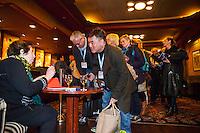 Amsterdam, 21-11-2014, IDFA, International Documentary Filmfestival Amsterdam. De masterclass van Heddy Honigmann: Honigmann signeert DVD-box in Tuschinski.<br /> Foto Nichon Glerum