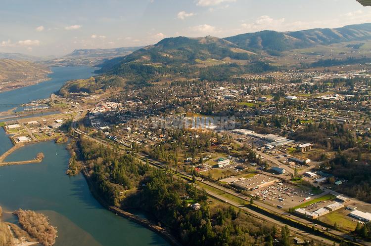 Aerial View of Hood River, Oregon