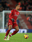 30th January 2019, Anfield, Liverpool, England; EPL Premier League football, Liverpool versus Leicester City; Joel Matip of Liverpool controls the ball in midfield