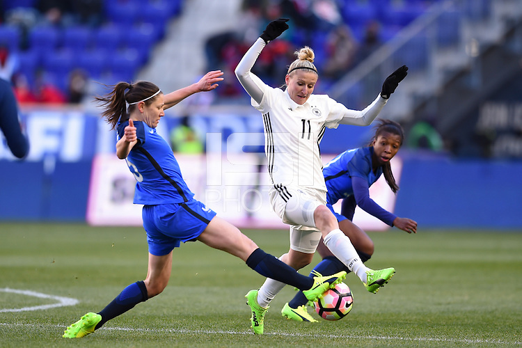 Harrison, NJ - Saturday, March 04, 2017: Anja Mittag prior to a SheBelieves Cup match between the women's national teams of France (FRA) and Germany (GER) at Red Bull Arena.
