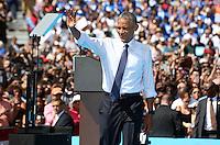 PHILADELPHIA, PA - SEPTEMBER 13: U S President Barack Obama pictured campaigning for Democratic nominee Hillary Clinton in front of the Philadelphia Art Museum in Philadelphia, Pennsylvania on September 13, 2016  photo credit  Star Shooter/MediaPunch