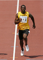 Nesta Carter of Jamaica finishad with a time of 10.17sec. in the 100m  at the 11th. IAAF World Championships in Osaka, Japan on Saturday, August 25, 2007. Photo by Errol Anderson,The Sporting Image.