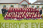 SCHOOL BLESSING: Teachers and students of Scoil Naomh Eric, Kilmoyley pictured Fr Donnacadh Leahy at the Mass and Blessing of their school on Tuesday morning..   Copyright Kerry's Eye 2008
