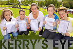 Fiona Conway, Gina Sheehy, Emeiar Thornton, Nicole Fenlon and Ashley Fleming who all received their Leaving Certificate results last Wednesday morning in Tarbert Comprehensive School.