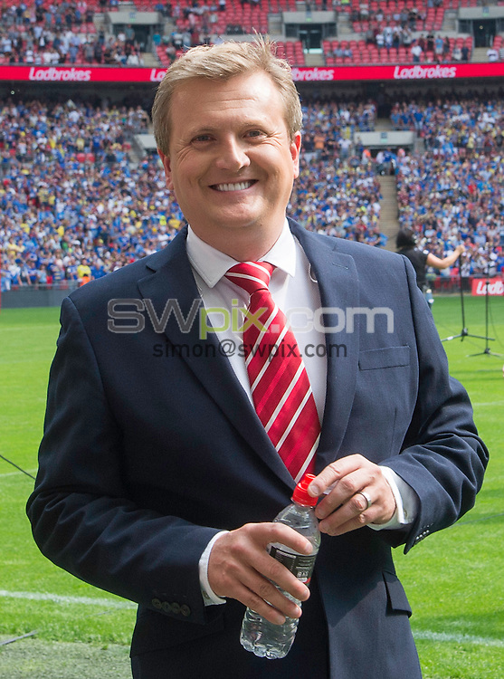 Picture by Allan McKenzie/SWpix.com - 27/08/2016 - Rugby League - Ladbrokes Challenge Cup Final - Hull FC v Warrington Wolves - Wembley Stadium, London, England - The brief, Aled Jones.