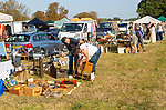 People browsing items on sale Glemham Hall, Suffolk, England, UK Grand Brocante vintage antique event September 2019