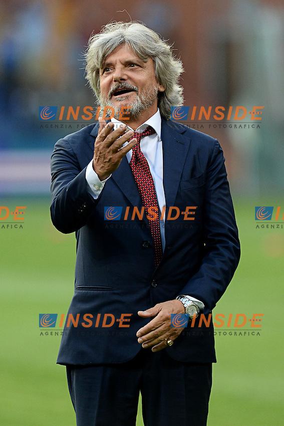 Massimo Ferrero Presidente Sampdoria <br /> Genova 02-08-2014 Stadio Marassi <br /> Calcio 2014/2015 Sampdoria - Eintracht Francoforte <br /> Foto Matteo Gribaudi / Image/ Insidefoto