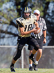 Palos Verdes, CA 09/25/15 - Daniel Schubert (Peninsula #18) in action during the Lawndale - Palos Verdes Peninsula Varsity football game at Peninsula High School.