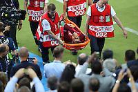 sortie de Cristiano Ronaldo (Portugal) blesse