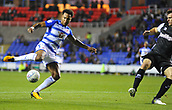 30th September 2017, Madejski Stadium, Reading, England; EFL Championship football, Reading versus Norwich City; Liam Moore of Reading has a late chance at goal blocked
