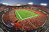 Aug 25, 2010; Kansas City, MO, USA; A general view of Arrowhead stadium as the Kansas City Chiefs practice during training camp at Arrowhead Stadium. Mandatory Credit: Denny Medley-US PRESSWIRE