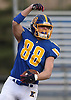 Daniel Wilson #88 of Kellenberg reacts after catching a pass for a touchdown in the first quarter of the NYCHSFL Class AA final against Xavier (Manhattan) at Mitchel Athletic Complex in Uniondale on Saturday, Nov. 17, 2018. Kellenberg won by a score of 41-6.