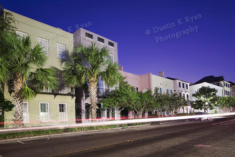 East Bay street charleston south carolina rainbow row homes