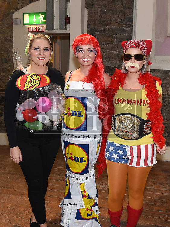 Amy White, Laura Rooney and Karen Bradley at the Halloween Ball in the old church Ardee in aid of St. Mary's GAA club. Photo:Colin Bell/pressphotos.ie