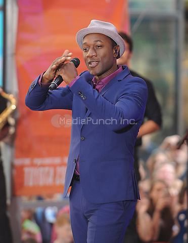 New York,NY-August 1: Aloe Blacc performs on NBC's Today Show summer concert series  in New York on August 1, 2014 . Credit: John Palmer/MediaPunch